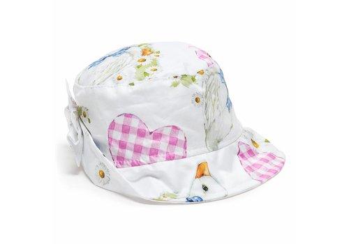 Monnalisa Monnalisa Summer Hat Popeline White