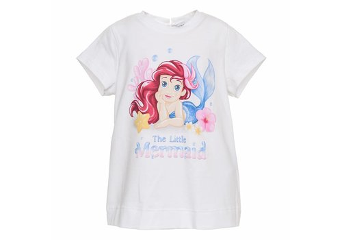Monnalisa Monnalisa T-Shirt Little Mermaid Wit