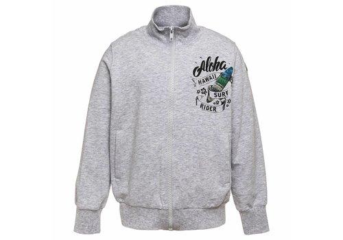 Monnalisa Monnalisa Sweater With Zipper Aloha Grey