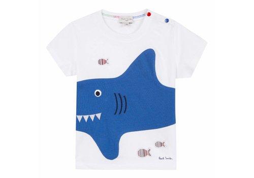 Paul Smith Paul Smith T-Shirt Wit Shark