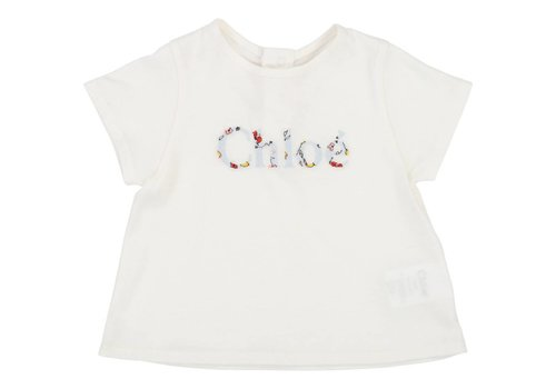 Chloe Chloe T-Shirt Logo Offwhite