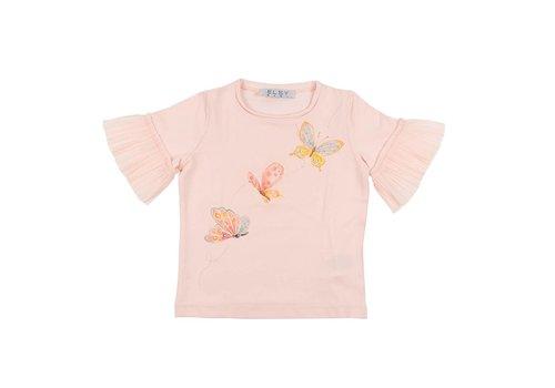 Elsy Elsy T-Shirt Met Vlinders