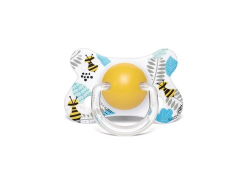 Suavinex Suavinex Pacifier Fusion Silicone Physical +4/18M Bee YW