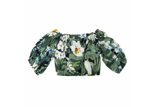 Monnalisa Monnalisa Top Flowers Green