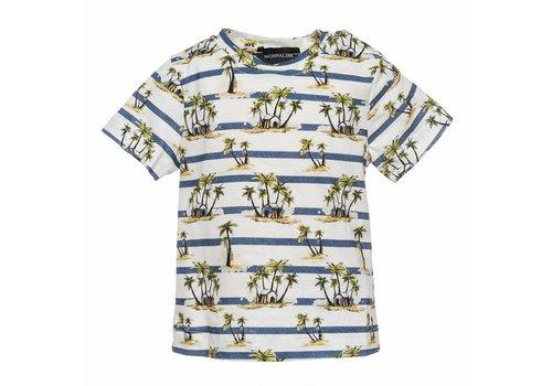 Monnalisa Monnalisa T-Shirt Palme Stripes
