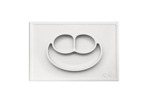 EZPZ EZPZ Placemat + Plate Happy Mat White