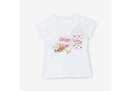 Liu Jo Liu Jo T-Shirt Glitter Juice Wit