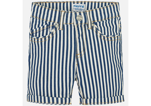 Mayoral Mayoral Short Pants Stripes Denim