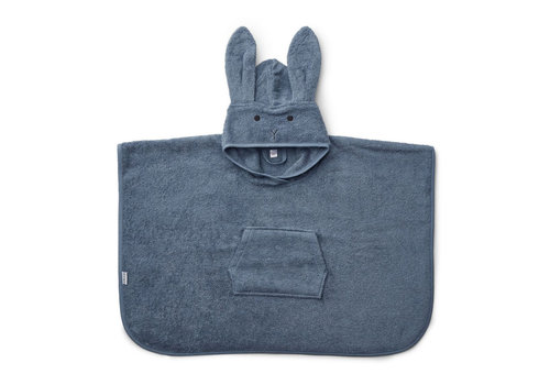 Liewood Liewood Poncho Rabbit Blue Wave