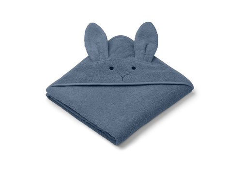 Liewood Liewood Hooded Towel Rabbit Blue Wave