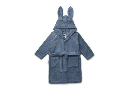 Liewood Liewood Bathrobe Rabbit Blue Wave