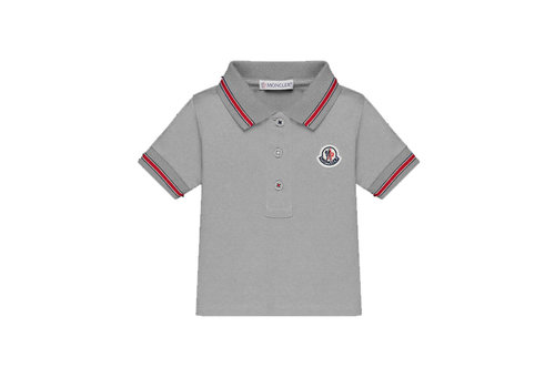 Moncler Moncler Polo Grey - Red Detail
