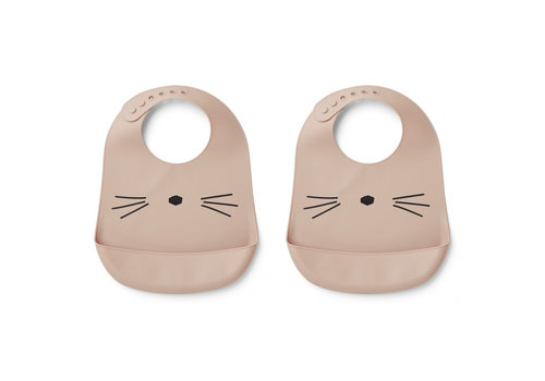 Liewood Liewood Silicone Slab Cat Rose 2-Pack