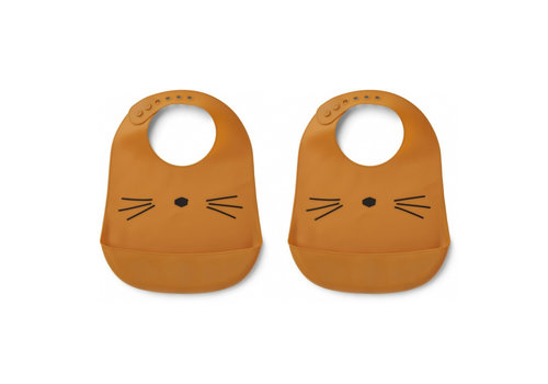 Liewood Liewood Silicone Slab Cat Mustard 2-Pack