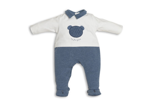 My First Collection My First Collection Pyjamas Teddy Front White - Denim