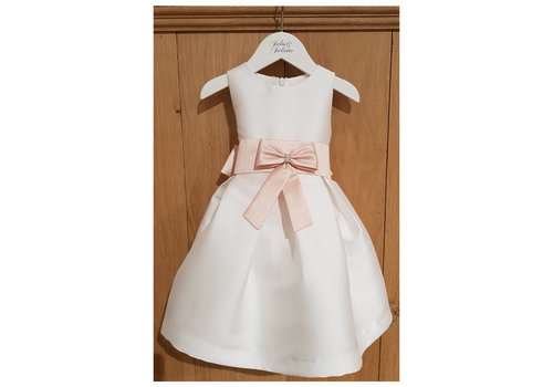 Mimilu Mimilu Dress Offwhite Pink Bow