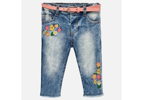 Mayoral Mayoral Jeansbroek Basic Flowers
