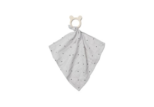 Liewood Liewood Cuddle Cloth With Teether Dines Dot Dumbo Grey