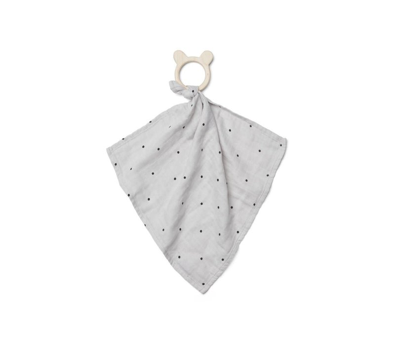 Liewood Cuddle Cloth With Teether Dines Dot Dumbo Grey