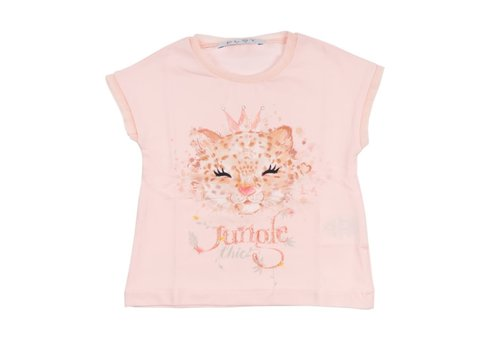 Elsy Elsy T-Shirt Jersey Leoparda Roze