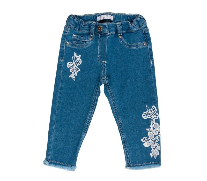 Elsy Jeans Met Wit Kant