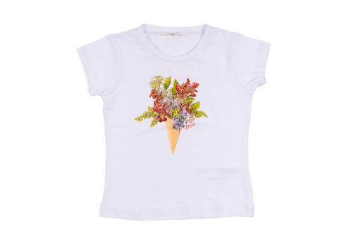 Liu Jo Liu Jo T-Shirt Wit Flowers