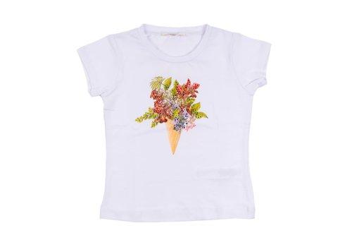 Liu Jo Liu Jo T-Shirt Wit Flowers