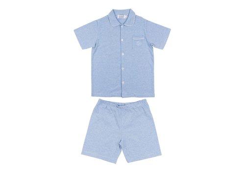 Cotolini Cotolini Pyjama Short Charlie Short Rayure Ciel