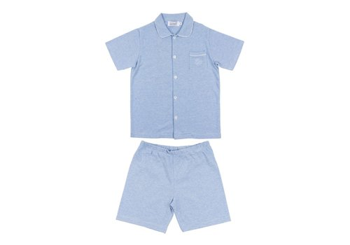Cotolini Cotolini Pyjamas Short Charlie Short Rayure Ciel