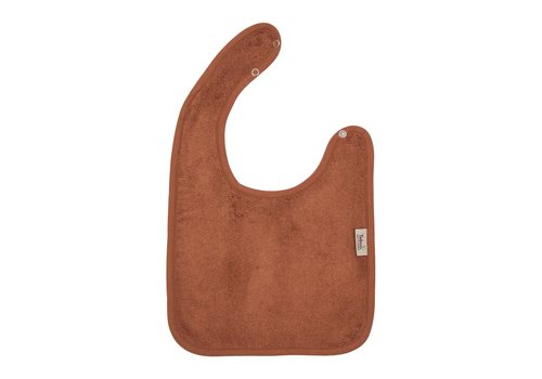 Timboo Timboo Bib Large 26 x 38 With Snap Buttons Hazel Brown