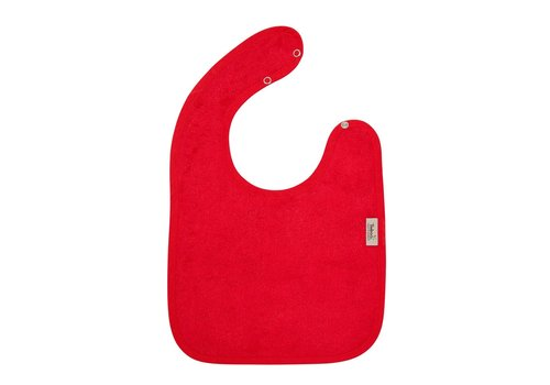 Timboo Timboo Bib Large 26 x 38 With Snap Buttons Red