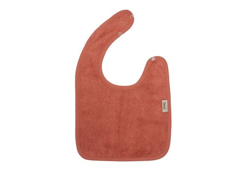 Timboo Timboo Bib Large 26 x 38 With Snap Buttons Apricot Blush