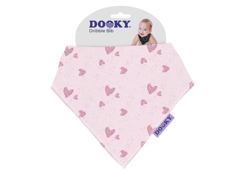 Dooky Dribble Bib Pink Heart