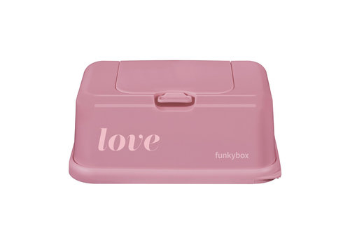 Funkybox Funkybox Baby Wipes Box Vintage Pink Love