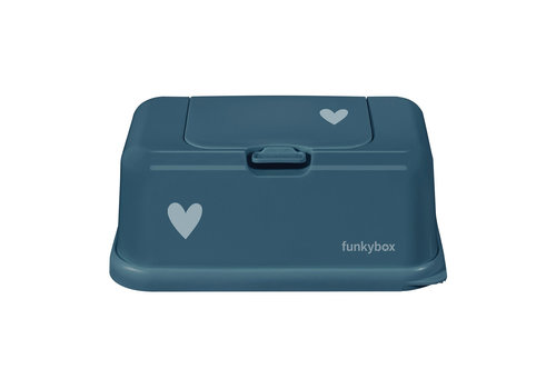 Funkybox Funkybox Baby Wipes Box Petrol Heart