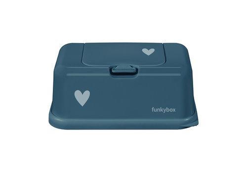 Funkybox Funkybox Vochtige Doekjes Houder Petrol Heart