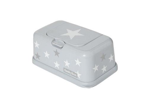 Funkybox Funkybox Baby Wipes Box Stars White - Grey