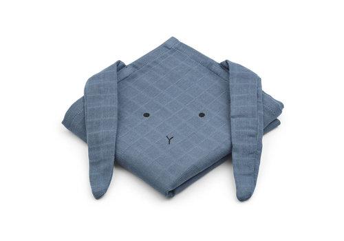 Liewood Liewood Muslin Cloth Rabbit Blue Wave 2-Pack