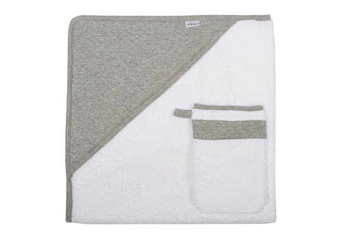 Les Reves D'Anais Hooded Towel + Washcloth Diamond Stone