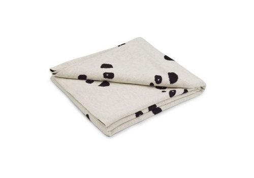 Liewood Liewood Dekentje Leif Baby Blanket Panda Beige Beauty
