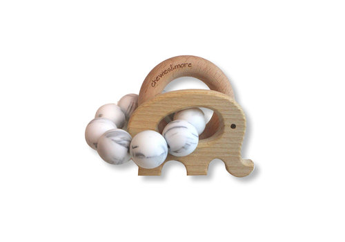 Chewies & More Chewies & More Play Rattle Elephant Marble