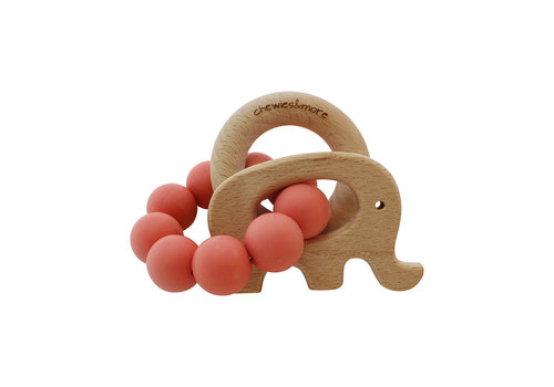 Chewies & More Chewies & More Play Rattle Elephant Coral