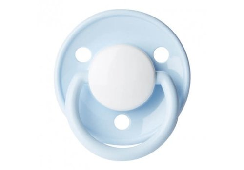 BIBS Bibs Pacifier Latex De Luxe Baby Blue 6 - 18M