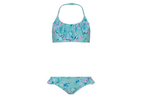Sunuva Sunuva Bikini Halter Frill Aqua