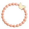 By Eloise Hair Tie / Bracelet Gold Butterfly Peach