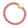 By Eloise Hair Tie / Bracelet Gold Heart Coral
