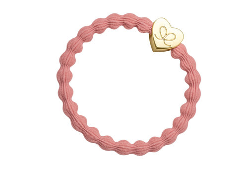 By Eloise Haarelastiek / Armband Gold Heart Coral