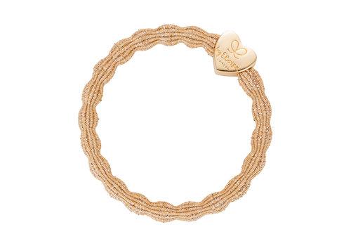 By Eloise Haarelastiek / Armband Metallic Gold Heart Gold