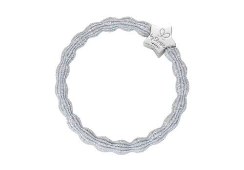 By Eloise Hair Tie / Bracelet Metallic Silver Star Silver