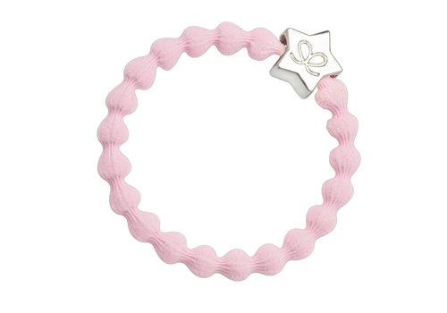 By Eloise Hair Tie / Bracelet Silver Star Soft Pink